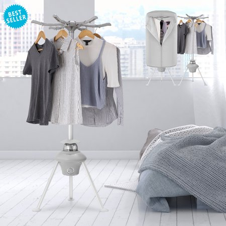 Portable Ventless Cloths Dryer- Electric Laundry Drying Rack-Fast Air Dry Hot Drying Machine With 1000W Heater For Home & Dorms