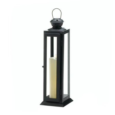 Black Candle Lantern, Decorative Outdoor Metal Candle Lanterns Holder ()