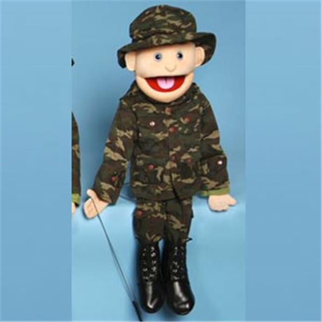 Sunny Toys GS4615 28 In. Brunette-Haired Boy In Army Uniform, Full Body Puppet by Sunny Co Toys Inc