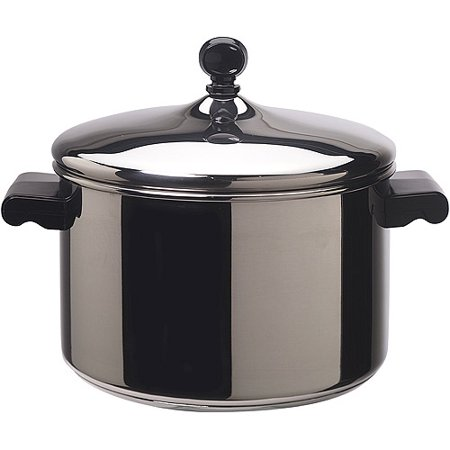 farberware 18 10 stainless steel 4 quart stock pot classic stainless steel. Black Bedroom Furniture Sets. Home Design Ideas