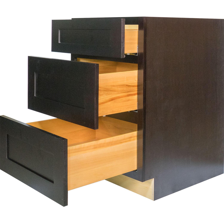 Everyday Cabinets 24-inch Dark Espresso Shaker Bathroom V...