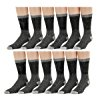 Merino Wool Blend Mens Thermal Hikking Socks by Excell (12 Pack Gray)