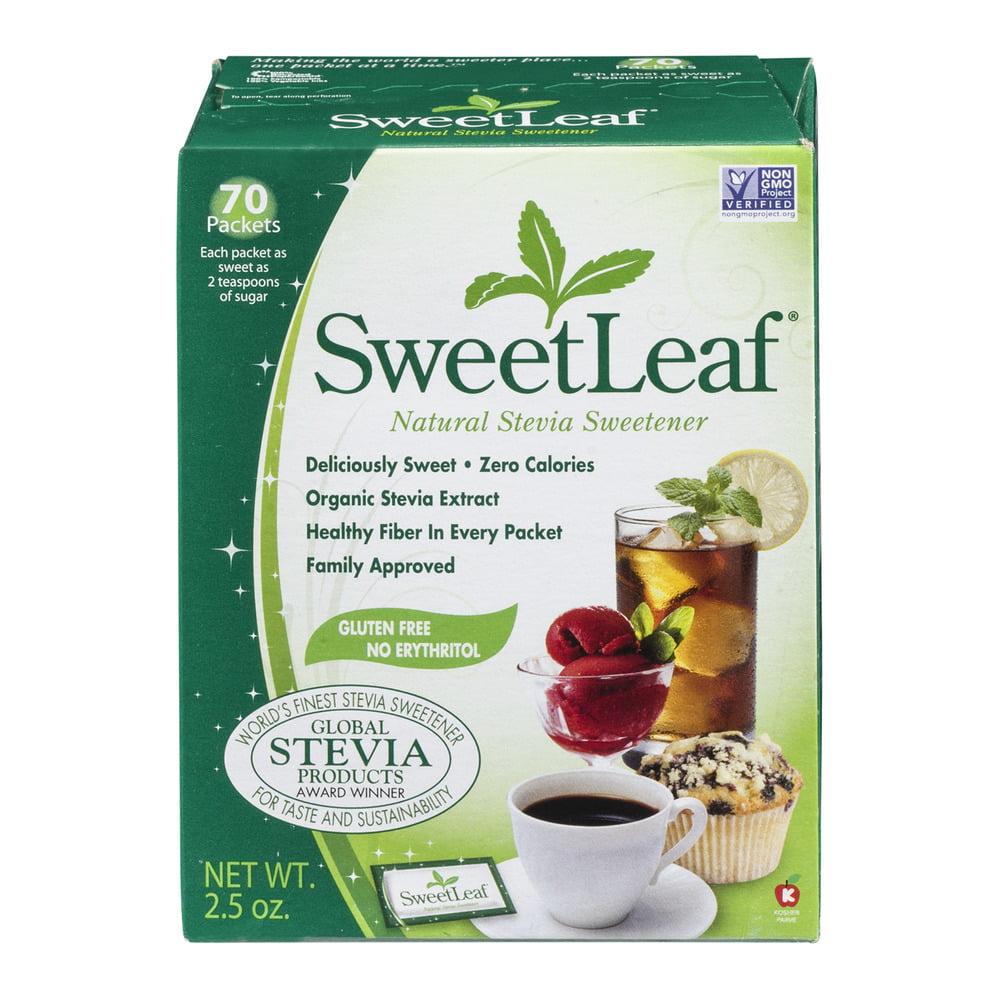 SweetLeaf Natural Stevia Sweetener Packets - 70 CT