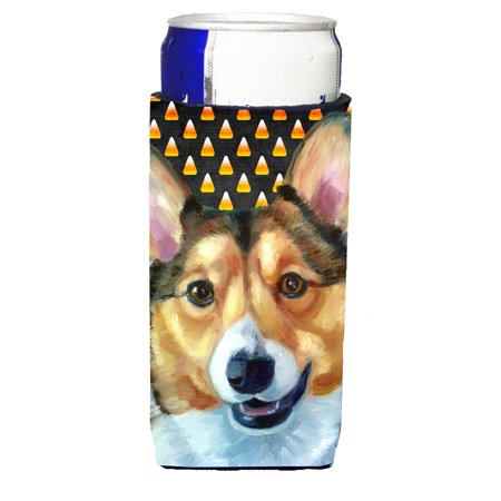 Corgi Candy Corn Halloween Ultra Beverage Insulators for slim cans LH9553MUK