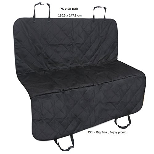 PetsN'all Pet / Dog Car Seat Cover For Cars - Large Size 75x58 inch - Backseat Hammock Style
