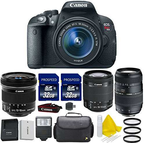 Canon EOS Rebel T5i 18.0 MP CMOS Digital SLR with Canon EF-S 10