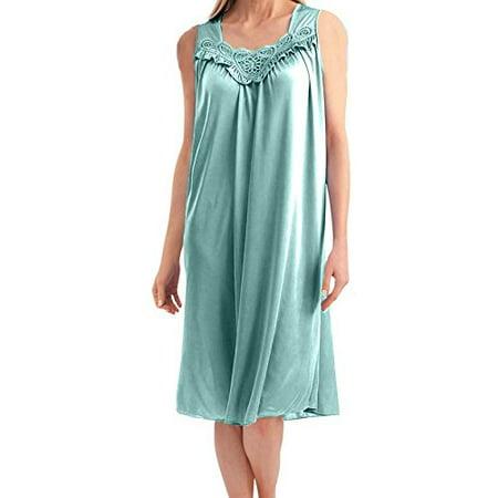 Women s Satin Silk Sleeveless Lingerie Nightgown By EZI 557718374
