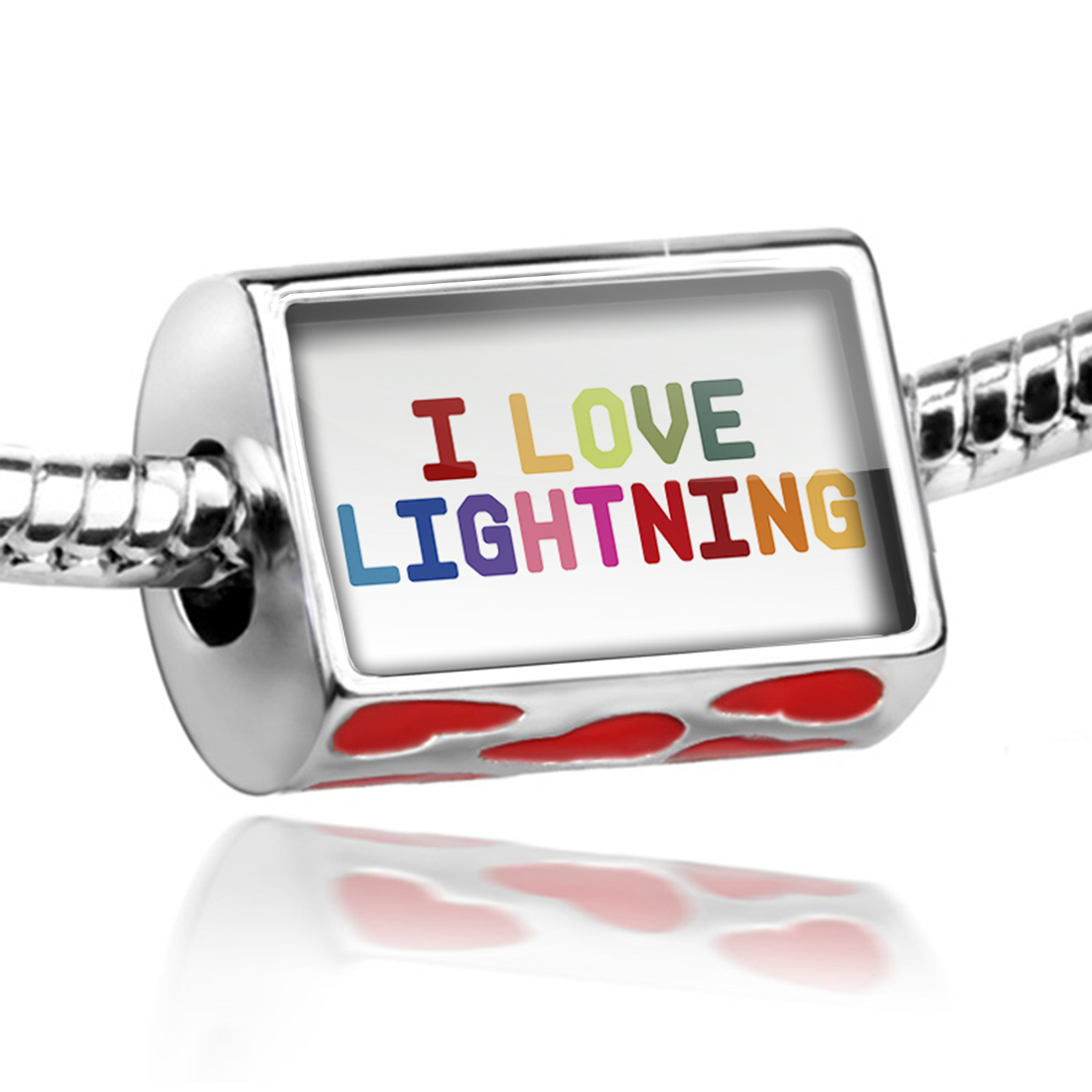 Bead I Love Lightning,Colorful Charm Fits All European Bracelets