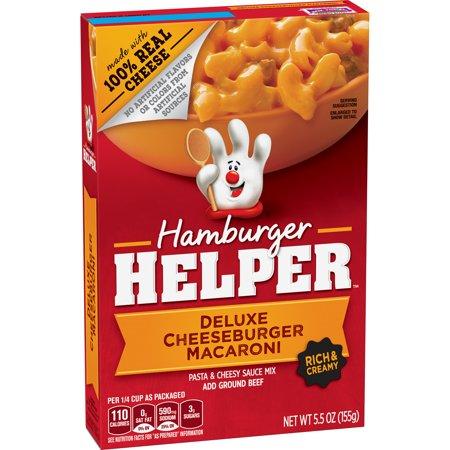 Betty Crocker Hamburger Helper  Deluxe Cheeseburger Macaroni Hamburger Helper  5 5 Oz Box