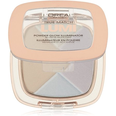 L'Oreal Paris True Match Lumi Powder Glow Illuminator, Ice [C302] 0.31 oz (Pack of 3) for $<!---->