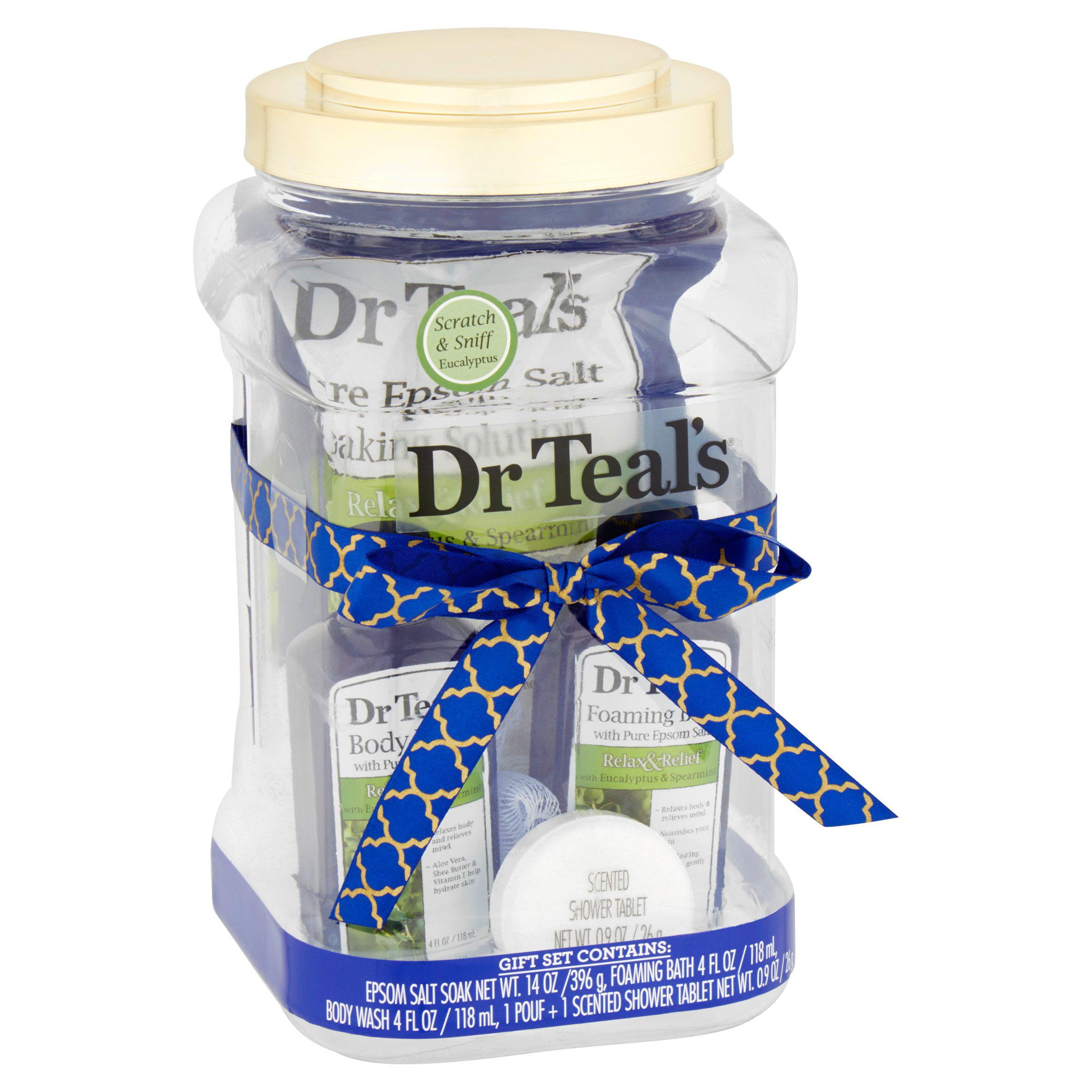 Dr Teal's Relax with Eucalyptus & Spearmint Bath Gift Set, 5 piece by PARFUMS DE COEUR LTD