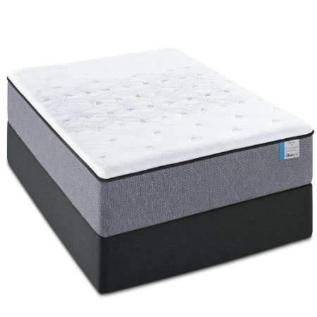 drakesboro full size firm mattress and low profile box spring set sealy posturepedic. Black Bedroom Furniture Sets. Home Design Ideas