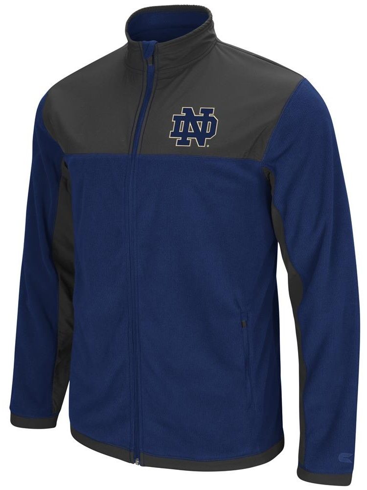 Notre Dame Fighting Irish Men's Full Zip Fleece Jacket by Colosseum