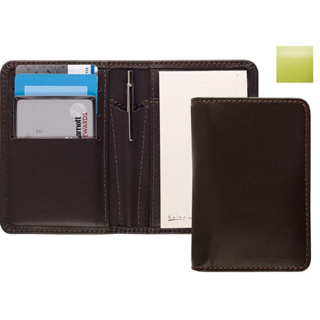 Raika RO 128 LIME Card Note Case with Pen - Lime