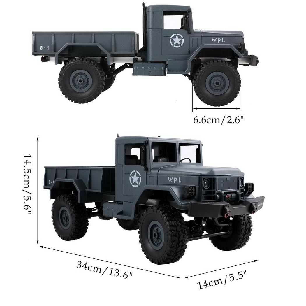 Kingbay 2.4G  RC Jeep Electric Miitary Truck 4WD Off Road Truck & Lights  Remote Control  Toy
