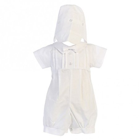 Lito Boys Poly Cotton Christening Baptism Romper Outfit White 3-6 Months - image 1 de 1