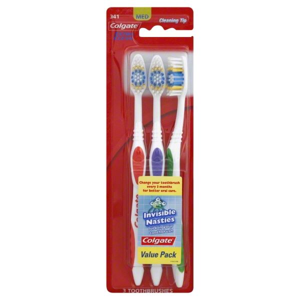 (Pack of 3) Colgate Extra Clean Full Head Toothbrush, Medium