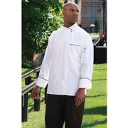 0455EC-2510 Luxembourg Chef Coat in White with Black Piping - 6XLarge