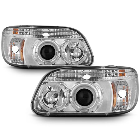 Fits 95-01 Explorer Halo Projector Headlights W/Built In Corner Signal Lights