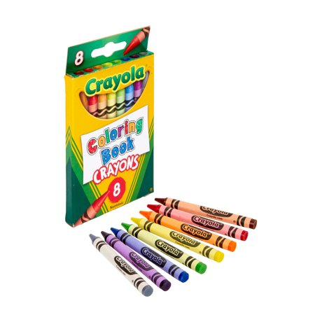 Crayola 8 Count Coloring Book Crayons Great For Gifting