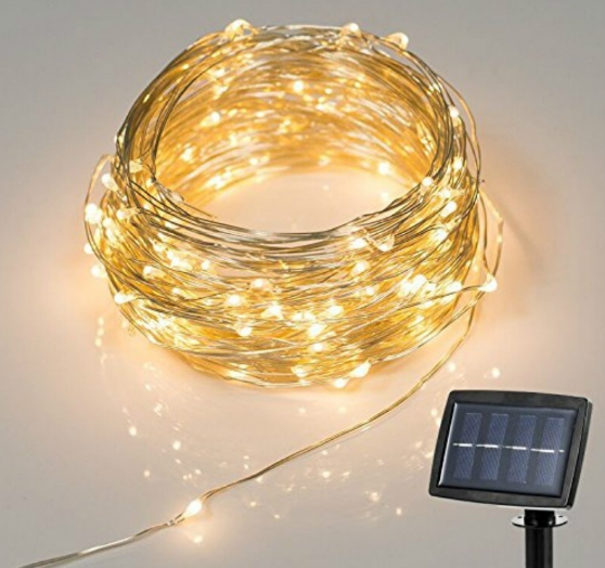 Patio Garden Solar Power 150 LEDs 2 Modes String Fairy Light Copper Wire For Holiday Wedding Christmas Halloween Party