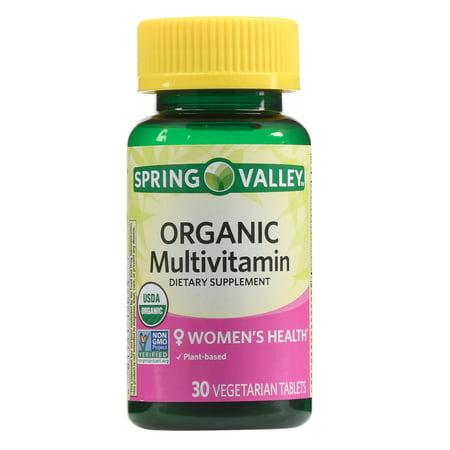 Spring Valley Women's Organic Multivitamin Vegetarian Tablets, 30