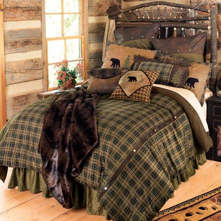 Alpine Bear Bed Set - King - Wilderness Bedding Decor