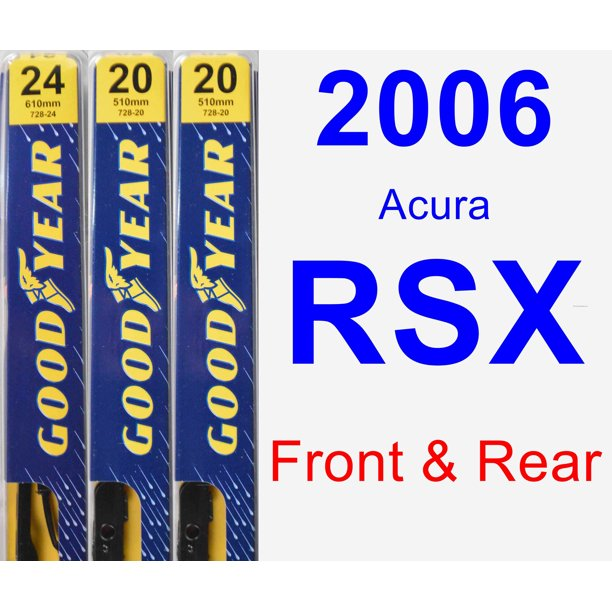 2006 Acura RSX Wiper Blade Set/Kit (Front & Rear) (3