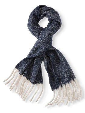 Eliza May Rose by Hat Attack Women's Chic Muffler Scarf with Oversized Fringe