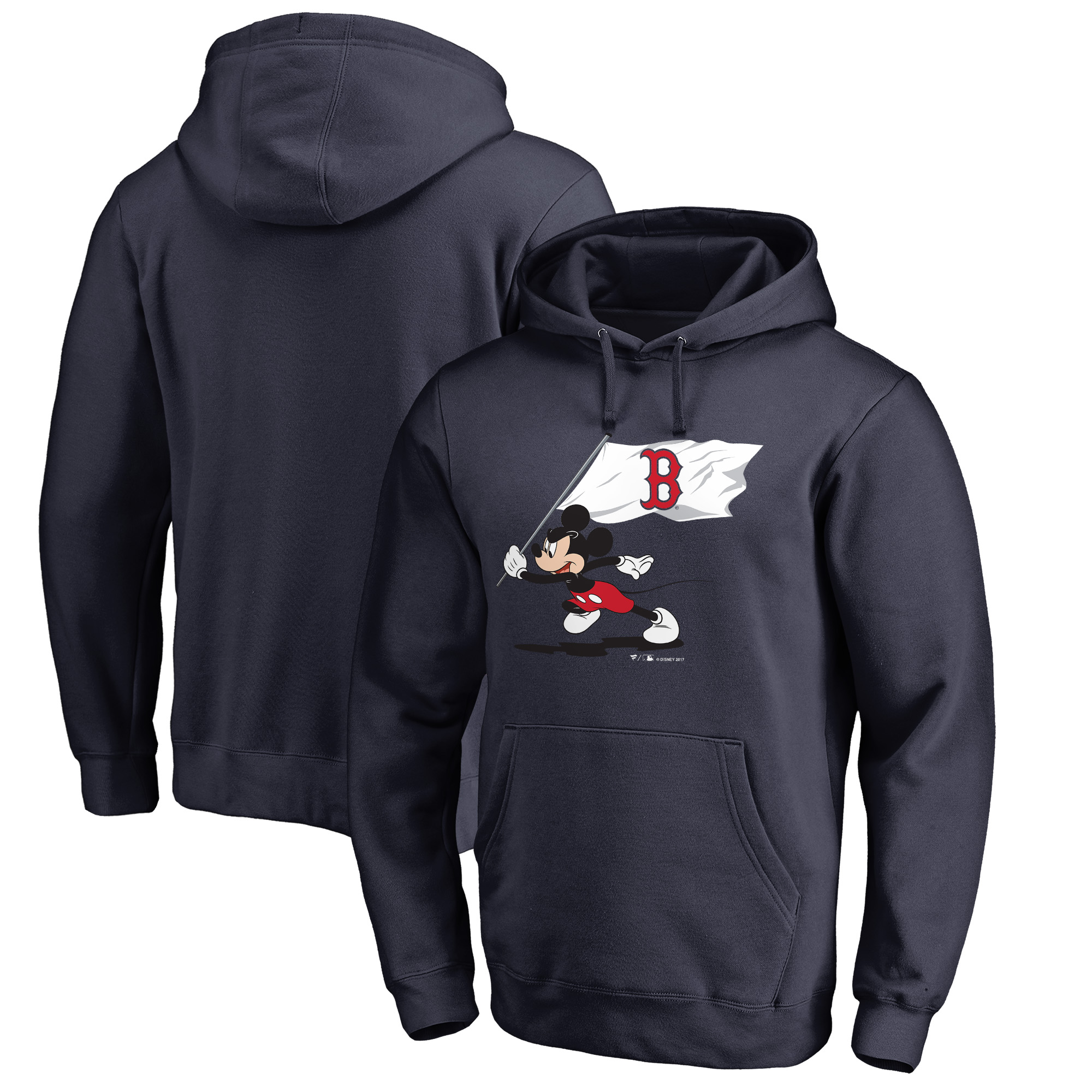 Boston Red Sox Fanatics Branded Disney Fly Your Flag Pullover Hoodie - Navy