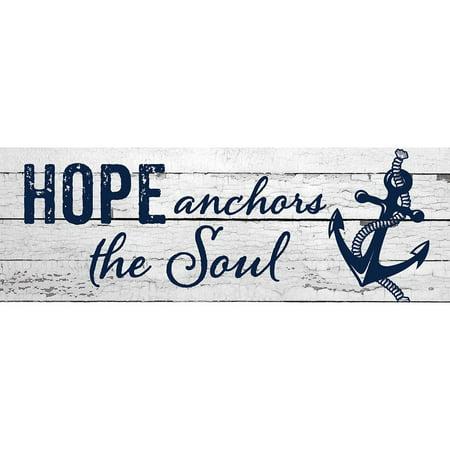 Custom Decor Signature Sign - Hope Anchors the Soul](Anchor Decor)