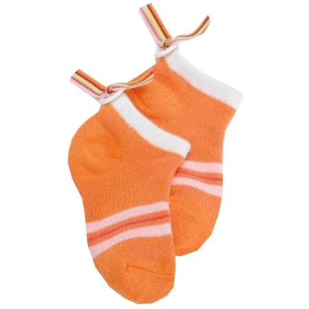 jefferies socks girls orange button back ribbon low cut socks walmartcom - Walmart Christmas Socks