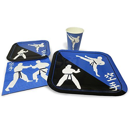 Blue Orchards Karate Standard Party Packs 65 Pieces For 16 Guests Karate Party Supplies Martial Arts Party Walmart Canada
