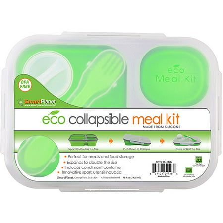 Smart Planet Large Collapsible Meal (Orange And Blue Color Mix)
