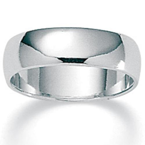 PalmBeach Jewelry 313167 Sterling Silver Wedding Band 5. 3 mm - Size 7