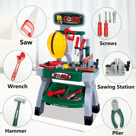 Tremendous Children For Ages 3 Years And Up Workbench Work Bench Kids Play Set With Tools Diy Tool Kit Construction Toy Creativecarmelina Interior Chair Design Creativecarmelinacom