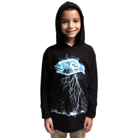 Tony hawk boys black long sleeve t shirt with hood for Boys long sleeve shirt with hood
