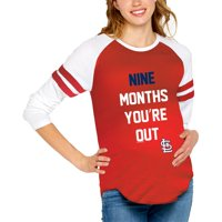 St. Louis Cardinals Soft as a Grape Women's Maternity Baseball Long Sleeve T-Shirt - Red
