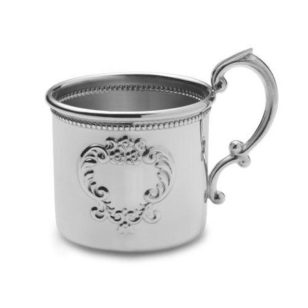 Empire Silver Beaded Raised Design Baby Cup