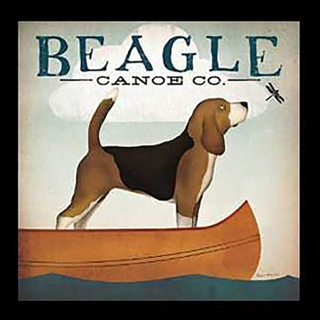 Framed Beagle Canoe Co Ryan Fowler Vintage Advertisement Ads Animals Dogs Print Poster 12X12