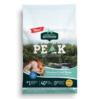 [Multiple Sizes] Rachael Ray Nutrish PEAK Natural Grain Dry Cat Food, Grain Free Woodland Catch Recipe with Chicken, Trout & Salmon