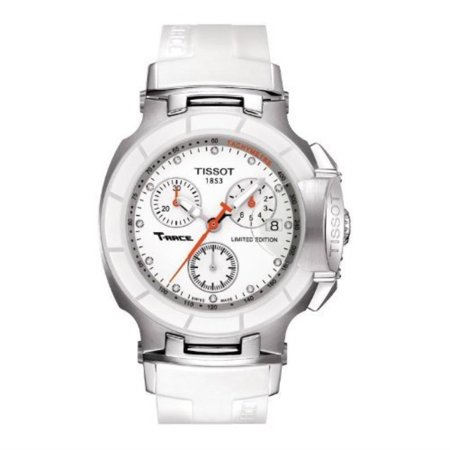 7bc5202d7 Tissot - Women's 'T-Race' Swiss Quartz Stainless Steel and Rubber Casual  Watch, Color:White (Model: T0482172701600) - Walmart.com