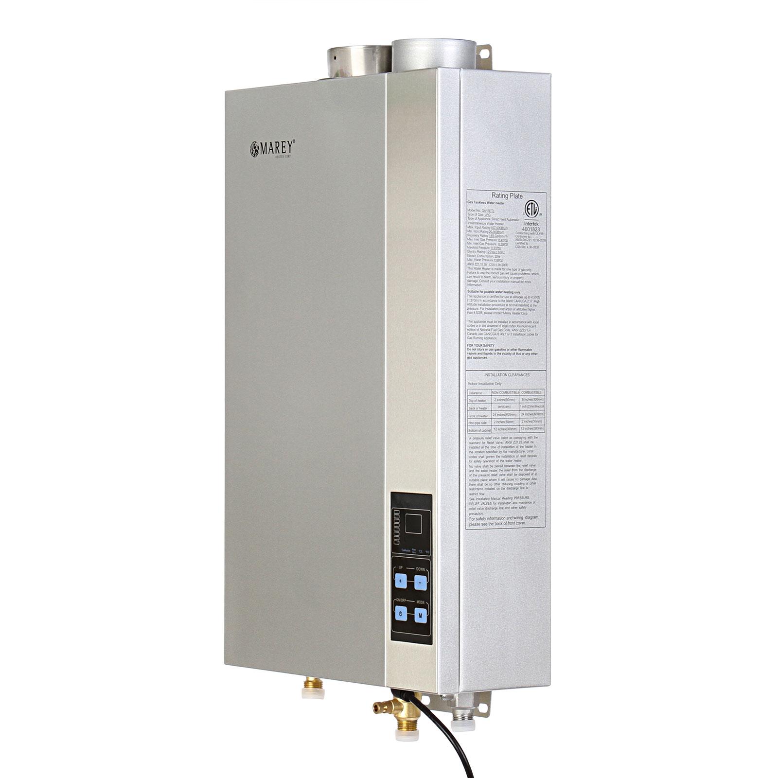 Marey 5.4 GPM Tankless Liquid Propane Hot Water Heater ET...