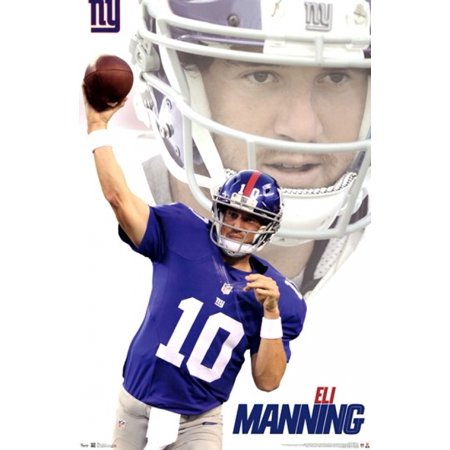 NY Giants - E Manning 12 Poster Print - Ny Giants Bear