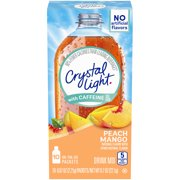 (60 Packets) Crystal Light On-The-Go Sugar-Free Powdered Peach Mango Drink Mix, 0.7 oz