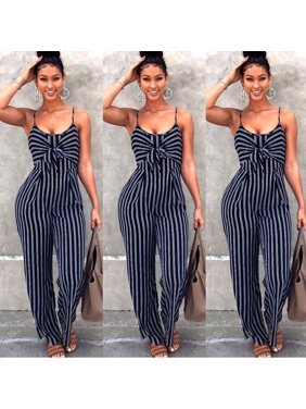 9dbc98fd01 Product Image Sexy Women Navy Striped Sleeveless Jumpsuit Bodycon Playsuit  Trousers Romper. Honganda