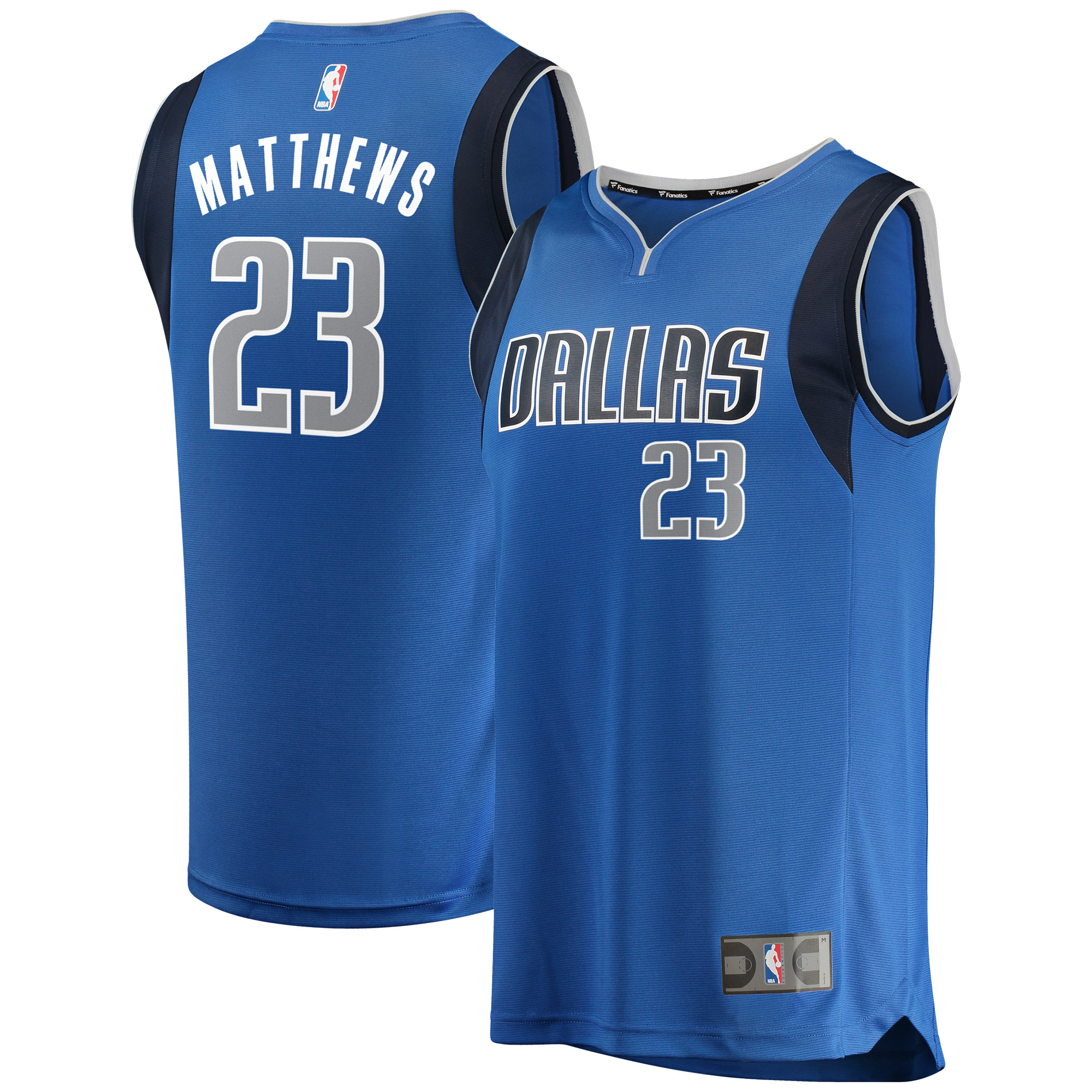 Wesley Matthews Dallas Mavericks Fanatics Branded Fast Break Replica Team Color Player Jersey Royal - Icon Edition
