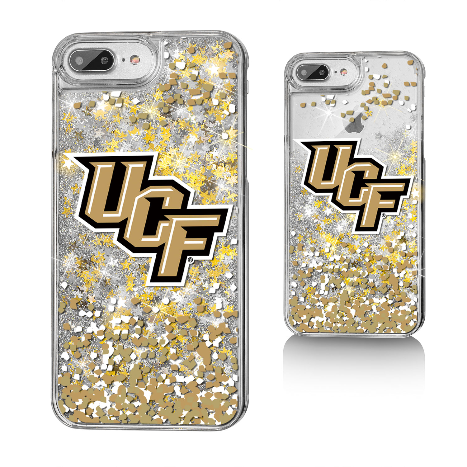 UCF Central Florida Golden Knights Confetti Glitter Case for iPhone 8 Plus / 7 Plus / 6 Plus
