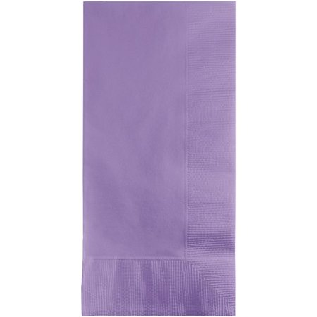 Touch of Color Dinner Napkins, 2-Ply, 1/8 Fold, Luscious Lavender, 50 Ct (Folding Dinner Napkins)