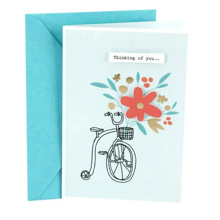 Hallmark Get Well Greeting Card (Bicycle with Flowers) ()